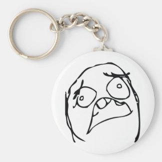 Horror Troll Basic Round Button Key Ring