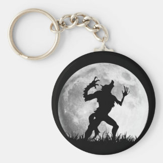 Horror Werewolf Full Moon Transformation - Cool Basic Round Button Key Ring