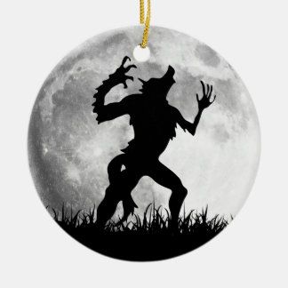 Horror Werewolf Full Moon Transformation - Cool Ceramic Ornament
