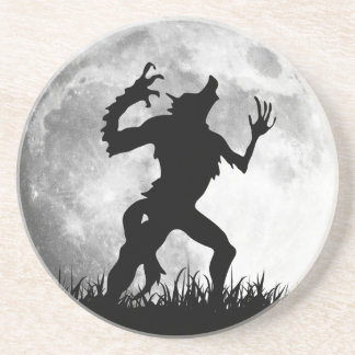 Horror Werewolf Full Moon Transformation - Cool Beverage Coasters
