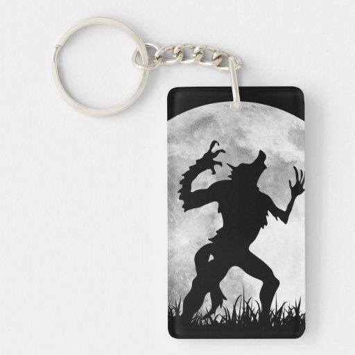 Horror Werewolf Full Moon Transformation - Cool Rectangle Acrylic Keychains