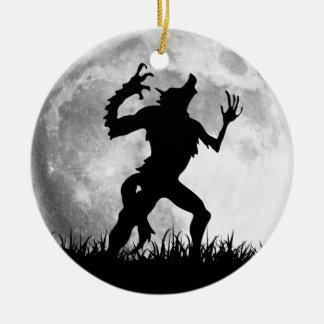 Horror Werewolf Full Moon Transformation - Cool Round Ceramic Decoration