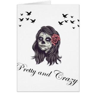 Horror Women Skull Card