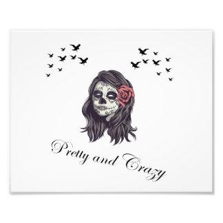Horror Women Skull Photo Print