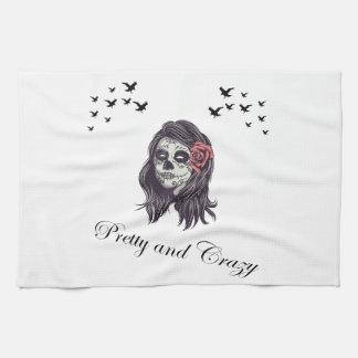 Horror Women Skull Tea Towel