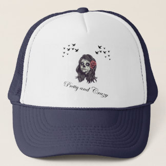 Horror Women Skull Trucker Hat