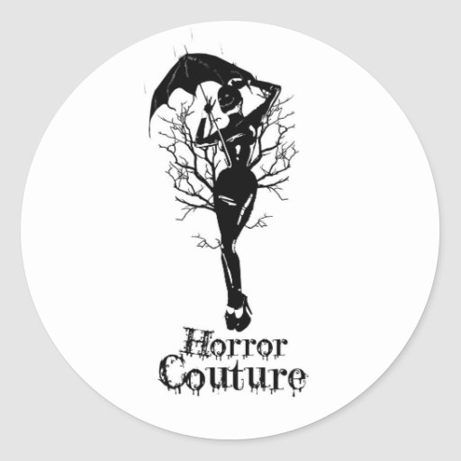 horrorcouture lidie logo sticker