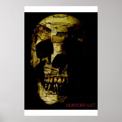 Horrorfanz Cracked Skull Print