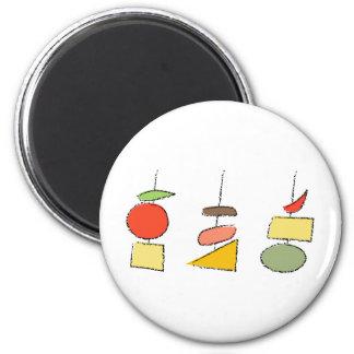 hors devours 6 cm round magnet