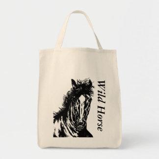 Horse 1 - wild horse tote bag