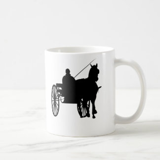 Horse and buggy coffee mug