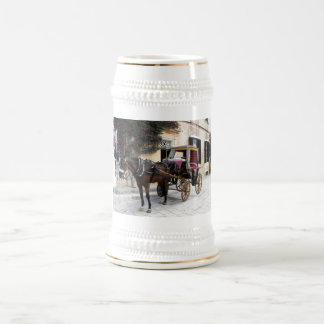 Horse and carriage, Mdina, Malta Beer Stein