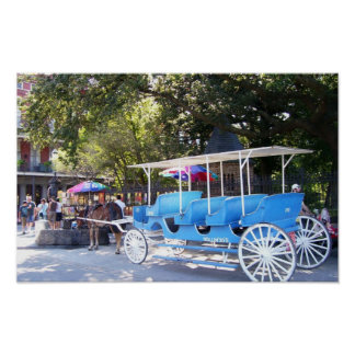 Horse and Carriage New Orleans French Quarter Poster
