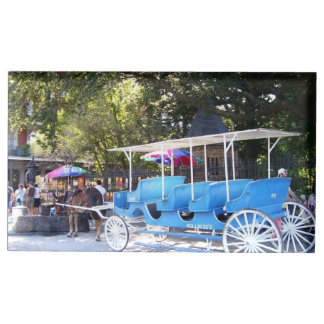 Horse and Carriage Table Card Holder