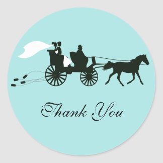 Horse and Carriage Wedding Thank You Stickers
