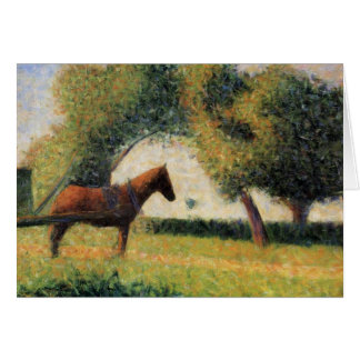 Horse and Cart by Georges Seurat Card