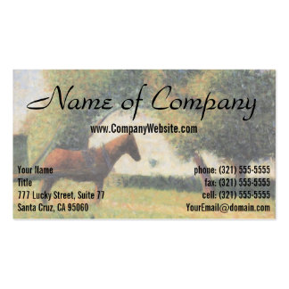 Horse and Cart by Georges Seurat Pack Of Standard Business Cards