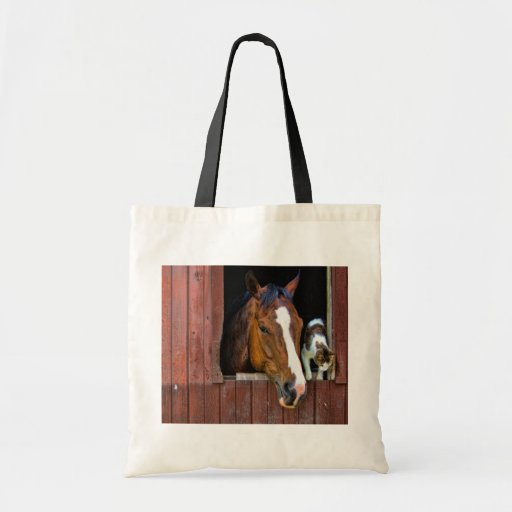 Horse and Cat Budget Tote Bag
