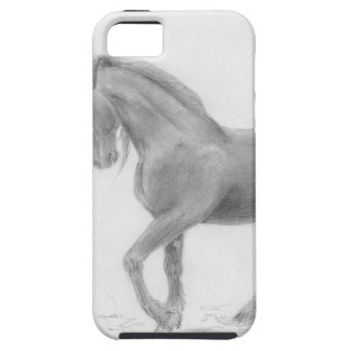 horse-and-cat-friends-pencil-art-gunilla-wachtel-1 iPhone 5 case