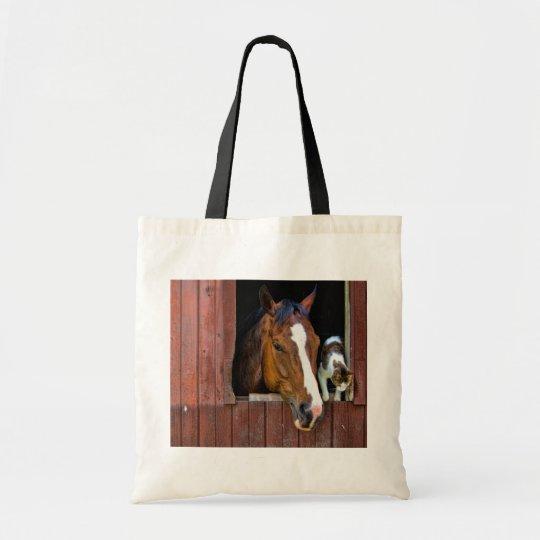 Horse and Cat Tote Bag