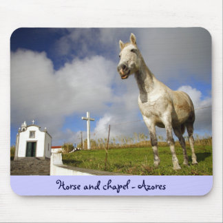 Horse and chapel mouse pad