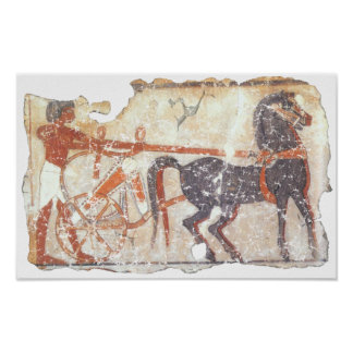 Horse and Chariot Print