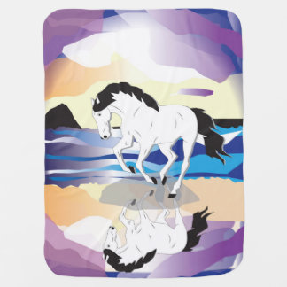 Horse and Clouds Buggy Blankets