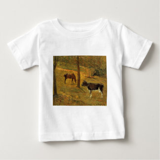 Horse and Cow in a Meadow by Paul Gauguin Baby T-Shirt