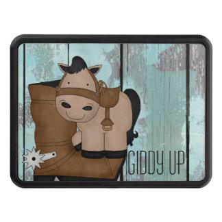 Horse and Cowboy Boot Tow Hitch Cover