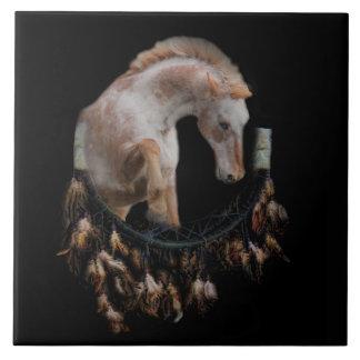 Horse and Dream Catcher Art Tile