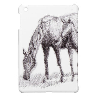 Horse and Foal Pen Drawing iPad Mini Covers