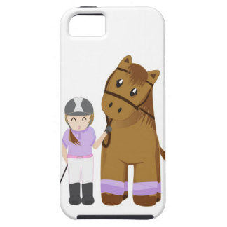 Horse and girl iphone case