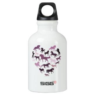 Horse and heart Aluminum SIGG Traveller 0.3L Water Bottle