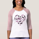 Horse and Heart Tshirt- Pink Tees