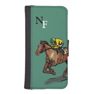 Horse and Jockey iPhone SE/5/5s Wallet Case