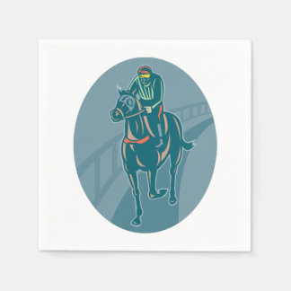 Horse And Jockey Paper Napkins