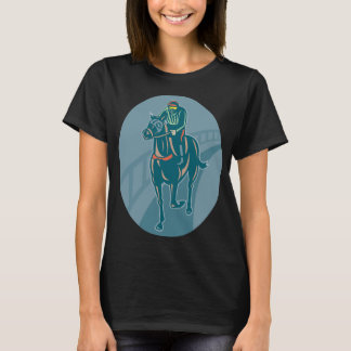 Horse And Jockey Womens T-Shirt