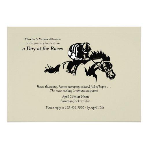 Horse and Jokey Invitation