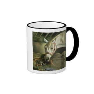 Horse and kittens, 1890 coffee mug
