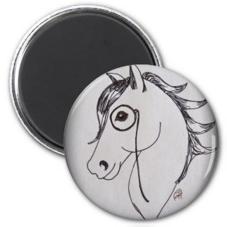 Horse and monocle magnet