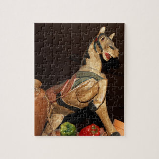 Horse and Other Decor at Mexican Restaunt Puzzle
