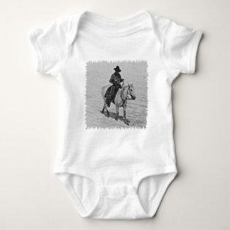 Horse and Rider (illustration) Baby Bodysuit
