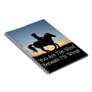 Horse and Rider Silhouette Notebooks