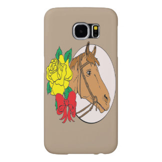 Horse and Rose Samsung Galaxy S6 Cases