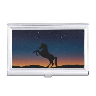 Horse Animal Nature Business Card Holder