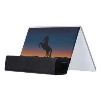 Horse Animal Nature Desk Business Card Holder