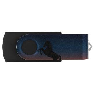 Horse Animal Nature Swivel USB 2.0 Flash Drive