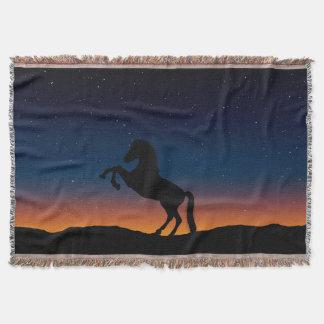 Horse Animal Nature Throw Blanket