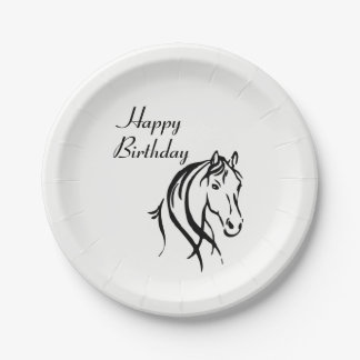 Horse Animal Theme Birthday Party Paper Plate
