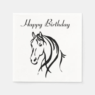 Horse Animal Theme Party Disposable Serviettes